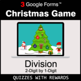 DIVISION 2-Digit by 1-Digit   Christmas Decoration Game  
