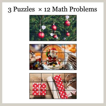 DIVISION 2-Digit by 1-Digit - Google Slides - Christmas Puzzles