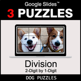 DIVISION 2-Digit by 1-Digit - Google Slides - Dog Puzzles