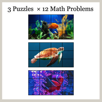 DIVISION 2-Digit by 1-Digit - Google Slides - Ocean Puzzles