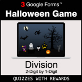DIVISION 2-Digit by 1-Digit | Halloween Decoration Game |