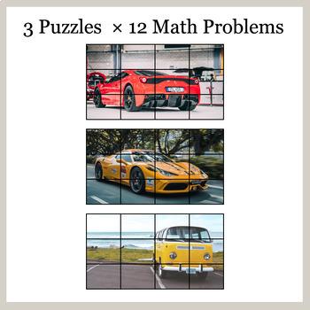 DIVISION 3-Digit by 1-Digit - Google Slides - Car Puzzles
