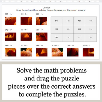 DIVISION 3-Digit by 1-Digit - Google Slides - Halloween Puzzles