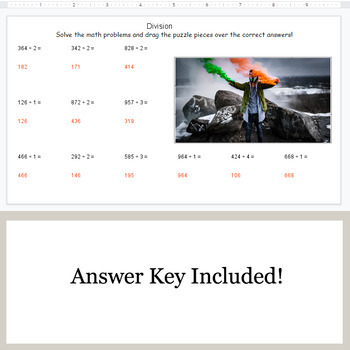 DIVISION 3-Digit by 1-Digit - Google Slides - St. Patrick's Day Puzzles