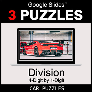 DIVISION 4-Digit by 1-Digit - Google Slides - Car Puzzles