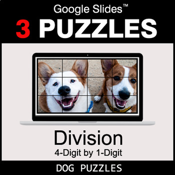 DIVISION 4-Digit by 1-Digit - Google Slides - Dog Puzzles