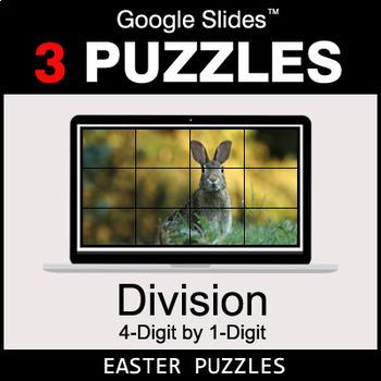 DIVISION 4-Digit by 1-Digit - Google Slides - Easter Puzzles