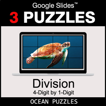 DIVISION 4-Digit by 1-Digit - Google Slides - Ocean Puzzles