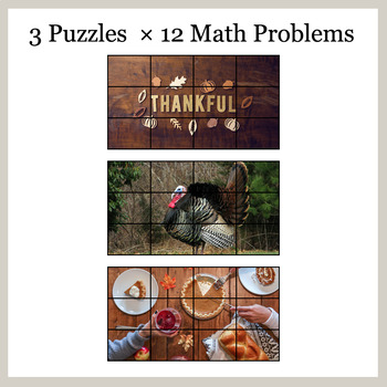 DIVISION 4-Digit by 2-Digit - Google Slides - Thanksgiving Puzzles