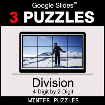 DIVISION 4-Digit by 2-Digit - Google Slides - Winter Puzzles