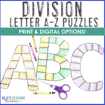 DIVISION A-Z Puzzles - Great for Bulletin Board Letters!