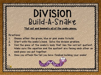 DIVISION BUILD-A-SNAKE