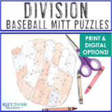 DIVISION Baseball Math Project Game - FUN way to add math