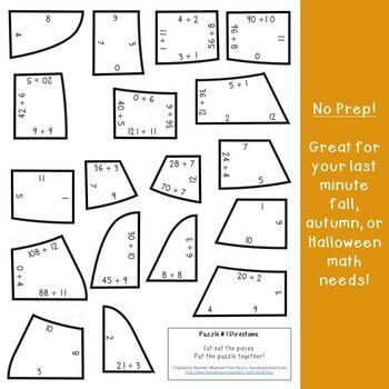 DIVISION Candy Corn Math Activities | FUN Fall Games, Puzzles, or Craft