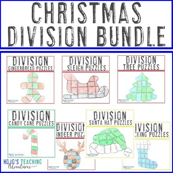 DIVISION Christmas Math Activities - Seven different resources in one download!
