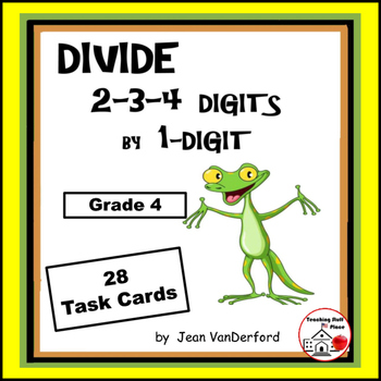 DIVISION | Divide 2-3-4-digits x 1-digit| Early Finishers|TASK CARDS|Gr 4-5 Math