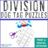 DIVISION Dog Tag Puzzles: FUN Veterans Day Activitiy or Math Center