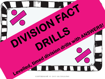 DIVISION FACT DRILLS