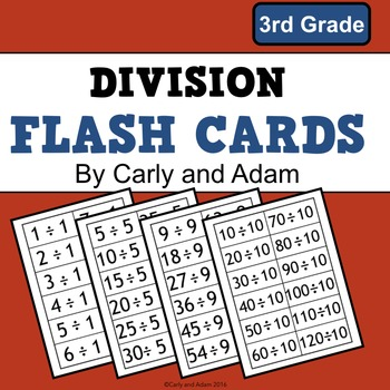 Division Flash Cards