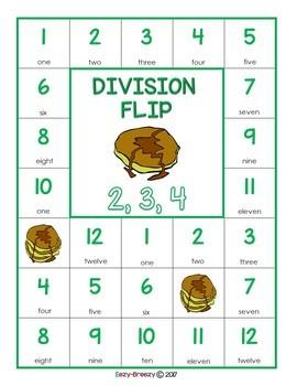 DIVISION FLIP math game
