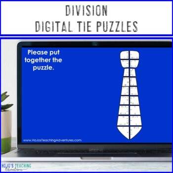 DIVISION Tie Puzzles | Fathers Day Activity, Crafts, or Math Centers