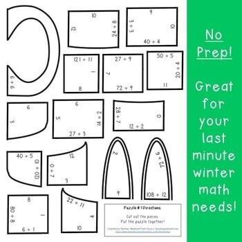 DIVISION Hot Chocolate Mug Math | Polar Express Math Games | Hot Cocoa Activity