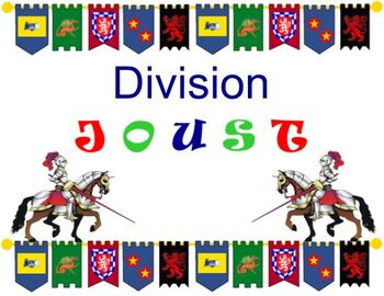DIVISION JOUST - Division Fact Card Activity
