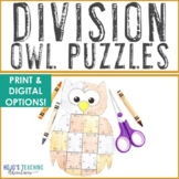 DIVISION Owl Math Puzzles | Fall Themed Activity Centers |