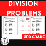 DIVISION PROBLEMS WORKSHEETS FOR 3RD GRADE