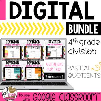 DIVISION Partial Quotients Bundle for Google Classroom