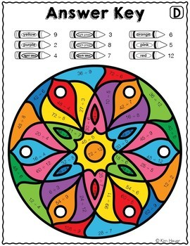 DIVISION REVIEW Color by Number Mandala Coloring Pages VOL. 2 Divide by 2-12