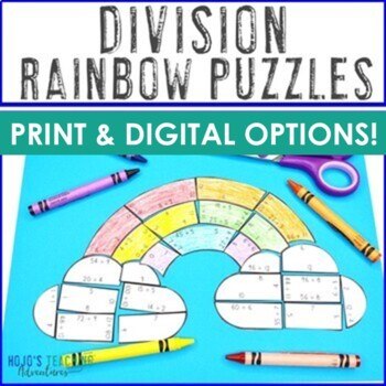 DIVISION Rainbow Activities | FUN Spring Math Centers, Games, or Stations