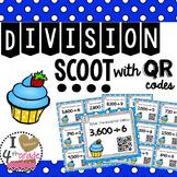 DIVISION SCOOT with QR Codes CCSS 4.NBT.6