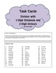 DIVISION TASK CARDS 3-digit dividends with 2-digit divisors