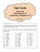 DIVISION TASK CARDS 3-digit dividends with 2-digit divisors (multiples of 10)