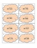 DIVISION TASK CARDS 3-digit dividends with 2-digit divisor