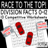 {mixed multiplication} {division worksheets} {racing theme worksheets}