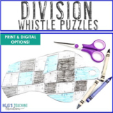 DIVISION Whistle Math Puzzles | Sports Theme Classroom Bul