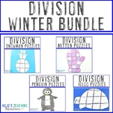DIVISION Winter Math Worksheet Alternatives - Snowman, Mit