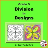 DIVISION PRACTICE  Color by Number Geometric Design  Color-coded Gr 3 MATH Pages