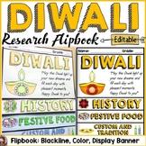 DIWALI CELEBRATION RESEARCH FLIPBOOK: EDITABLE