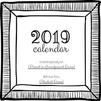 DIY 2019 Calendar - Parent Gift