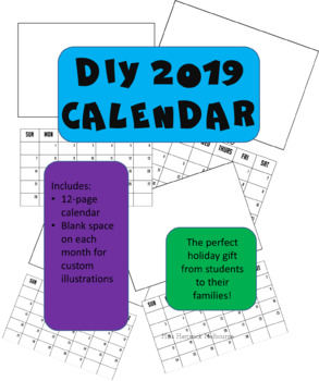 DIY 2019 Calendar: The Perfect Gift from Students to their Family!