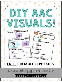 DIY AAC Visuals Freebie