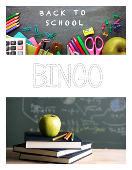 DIY Back To School Bingo PDF