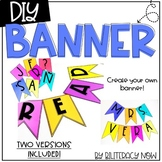 DIY Banner Template! Includes A-Z, special symbols, and Sp