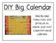 DIY Big Calendar