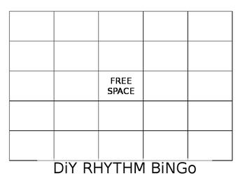 diy bingo board blank