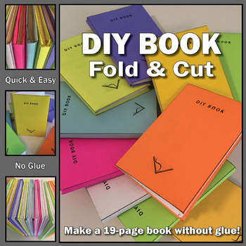 DIY Book - Fold & Cut - Make a 19-Page Book Without Glue--Project Based Learning