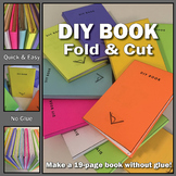 DIY Book - Fold & Cut - Make a 19-Page Book Without Glue--